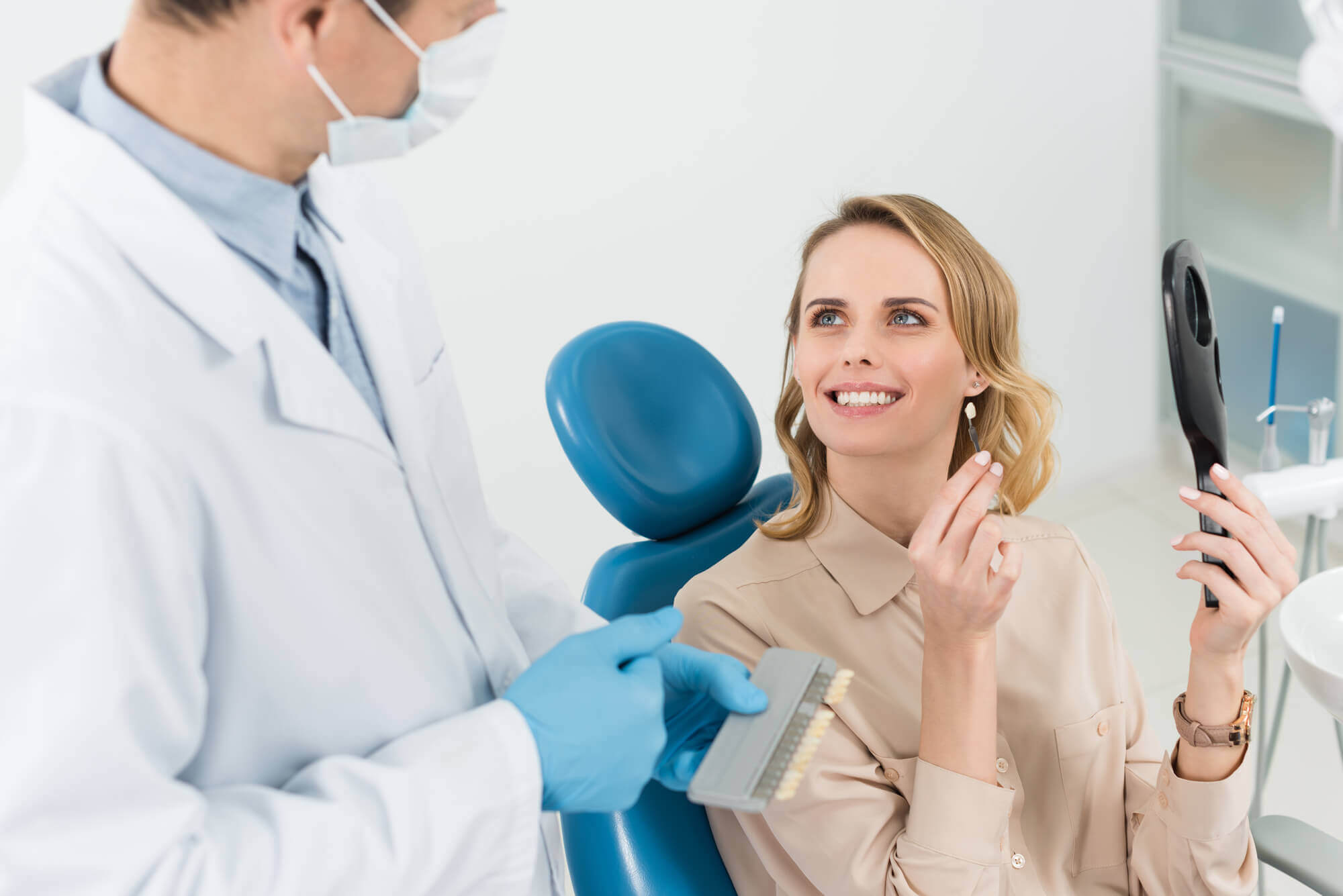 Patient and dentist Dental Implants in Aventura